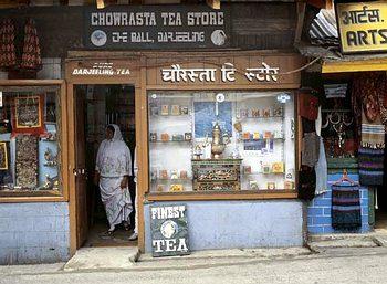 Obchod s čajem v Dárdžilingu